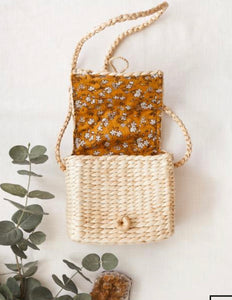 Back To Nature Water Hyacinth Matching Mama Daughter Bags