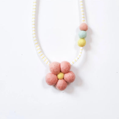 Flower power diffusing wool necklace