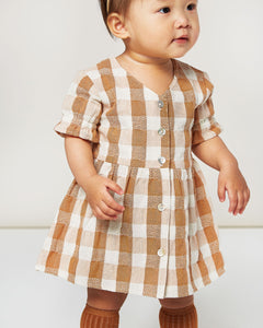 Check Jeanette dress - cinnamon