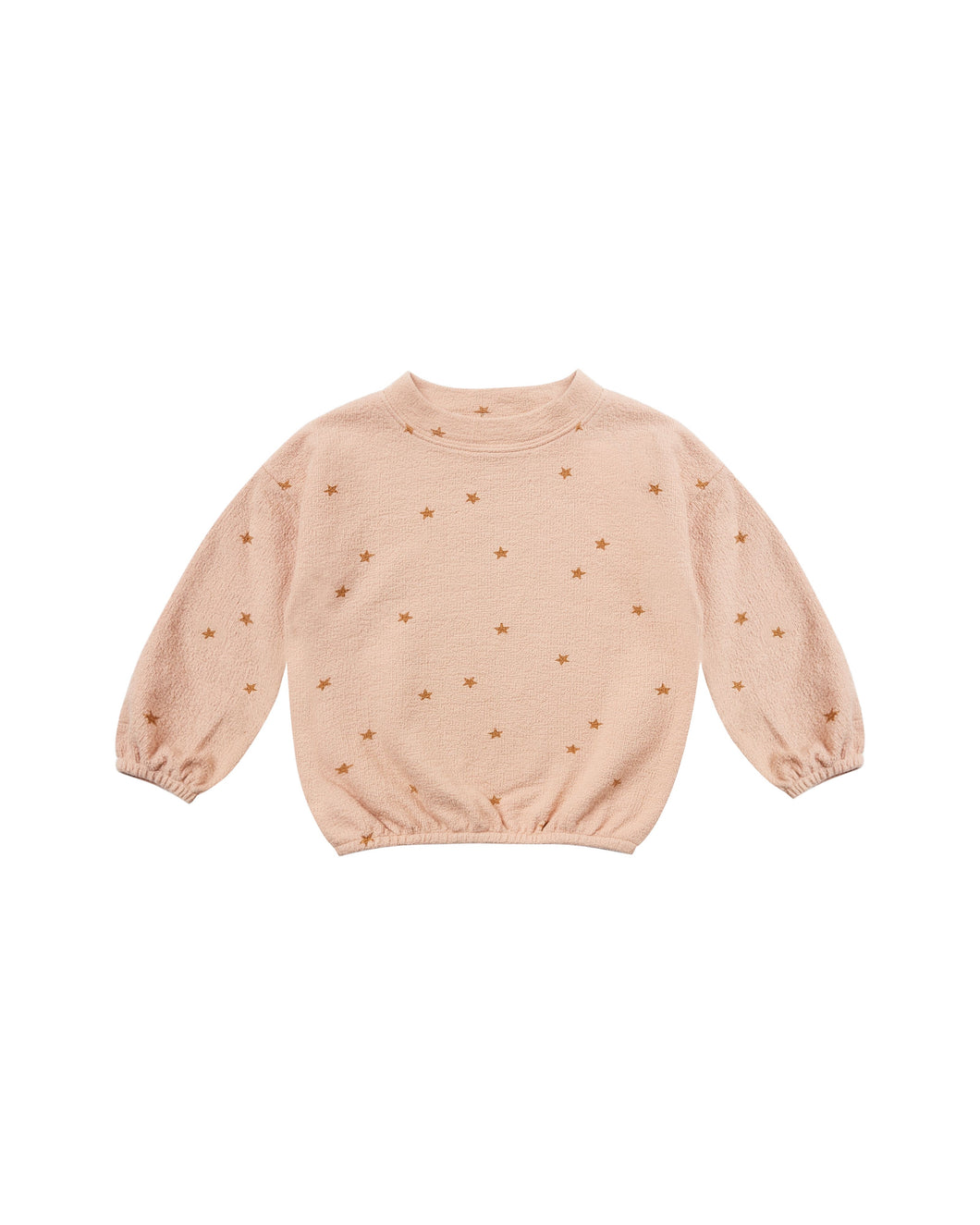 Star slouchy pullover sweater - rose