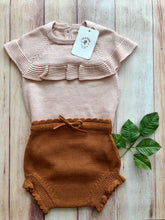 Load image into Gallery viewer, Fin & Vince knit shortie bloomers - cashew