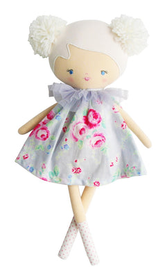 Baby Ellie doll - silver floral
