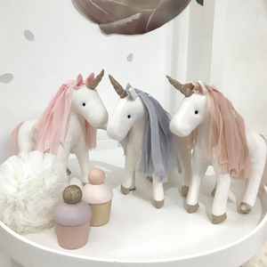 Little unicorn in light grey