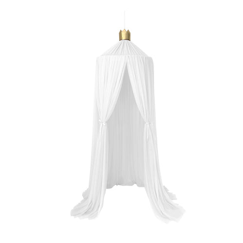 Dreamy canopy in white with gold crown