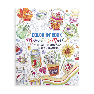 Color-in' book: Marvelous market