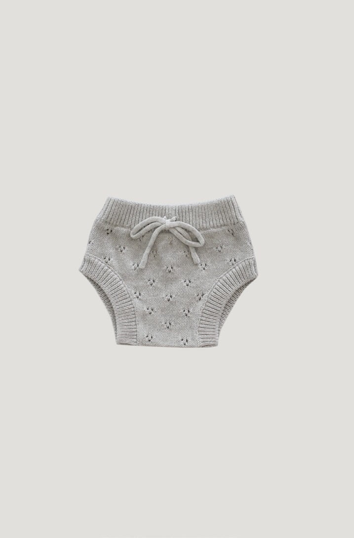 Jamie Kay pointelle bloomer - light grey marle