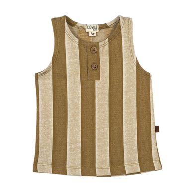 Organic tank top - yellow stripe