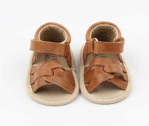 Leather sandals - camel
