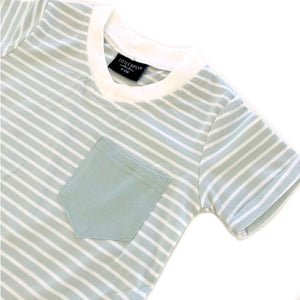 Stripe swoop tee - mint