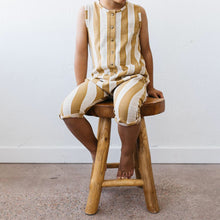Load image into Gallery viewer, Organic tank romper - yellow stripe