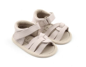 Leather sandals - ivory