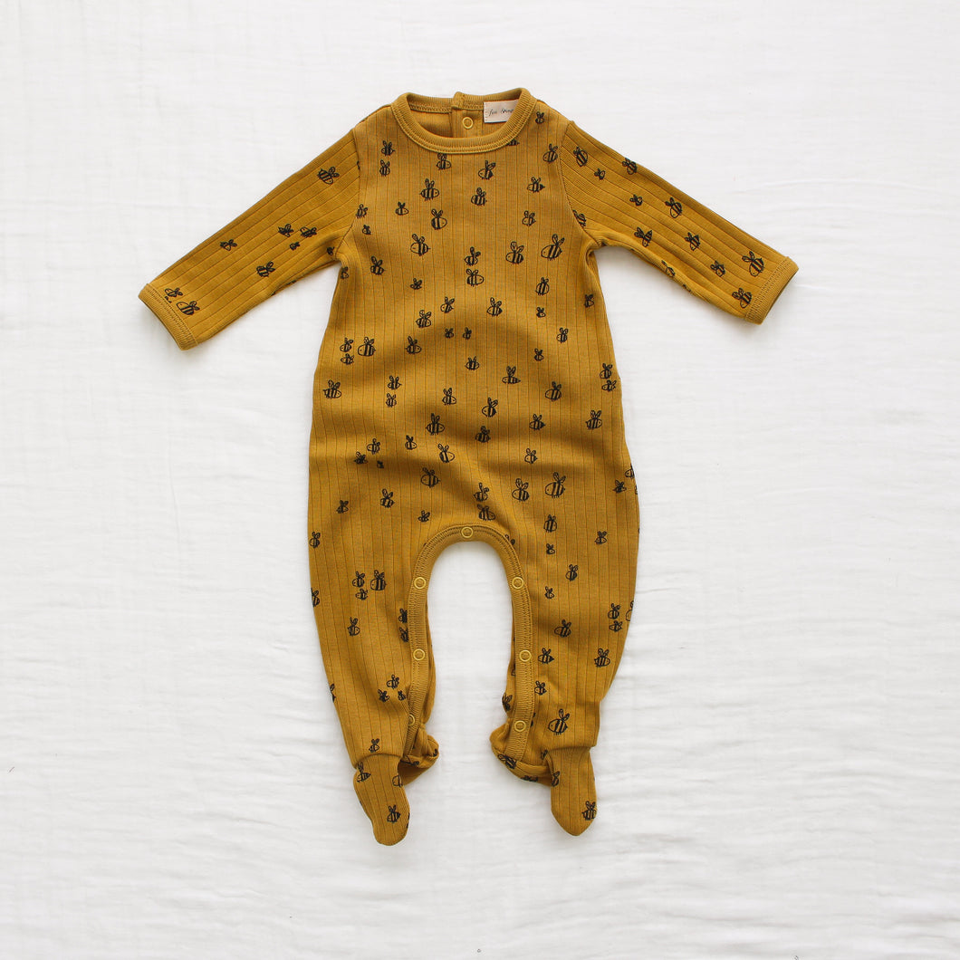 Fin & Vince bees snapback footed romper