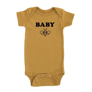 Baby bee short sleeve onesie / tee