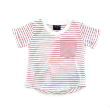 Load image into Gallery viewer, Stripe swoop tee - blush