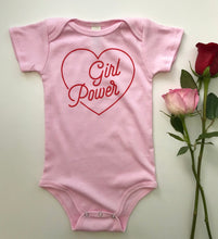 Load image into Gallery viewer, Girl power short sleeve onesie / tee - pink