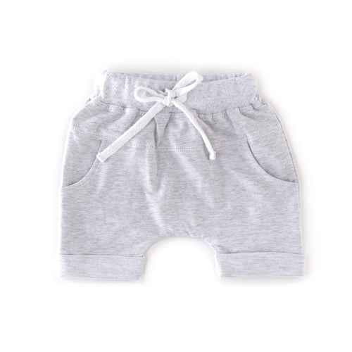 Rolled harem short - heather grey