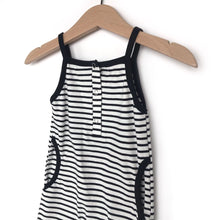 Load image into Gallery viewer, Tank stripe romper - black