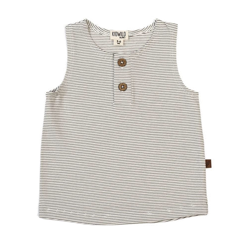 Organic tank top - pencil stripe