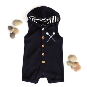 Gone camping hooded romper