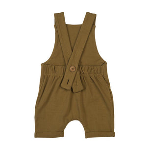 Organic summer overalls - curry