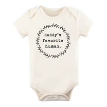 Load image into Gallery viewer, Daddy's favorite human short sleeve onesie