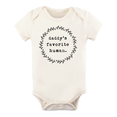 Daddy's favorite human short sleeve onesie