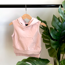 Load image into Gallery viewer, Sleeveless hoodie - blush