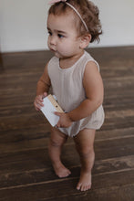 Load image into Gallery viewer, Fin & Vince gauze sunsuit - fog