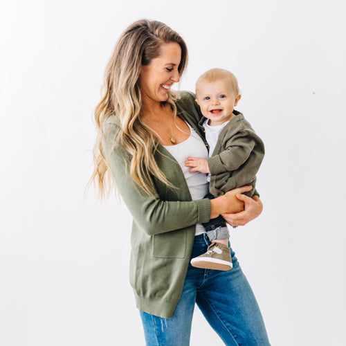 Women's perfect cardi - olive