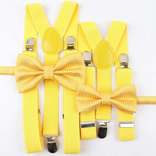 Load image into Gallery viewer, Colorful Suspenders Bow Tie