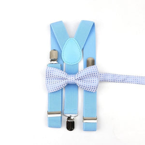 Colorful Suspenders Bow Tie