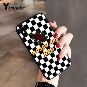 Plaid Checked Painted Phone Case