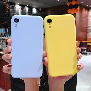 Candy Color Silicone Phone Case
