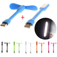 Load image into Gallery viewer, USB 2-in-1 Flexible Fan With LED Light Lamp