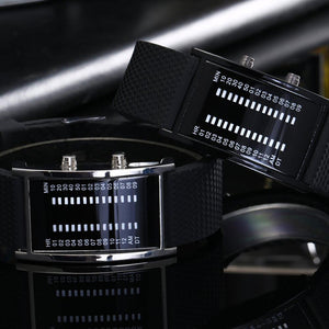Double Row LED Electronic Watch