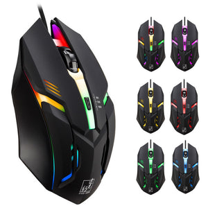 LED Light 4 Button Wired Mice
