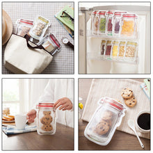 Load image into Gallery viewer, Mason Jar Zipper Bags
