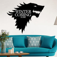 Load image into Gallery viewer, Wolf Game of Thrones Wall Stickers