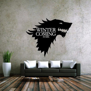 Wolf Game of Thrones Wall Stickers