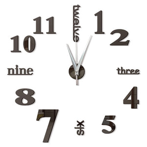 Self Adhesive Digital Vintage Wall Clock