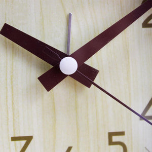 Simple Silent Bamboo Pattern Alarm Clock