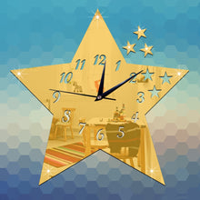 Load image into Gallery viewer, Star Art Room Wall Clock