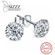 Load image into Gallery viewer, Crystal Zircon Sterling Earrings