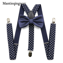 Load image into Gallery viewer, Unisex Suspenders Bow Ties