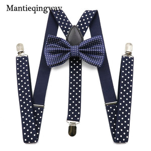 Unisex Suspenders Bow Ties