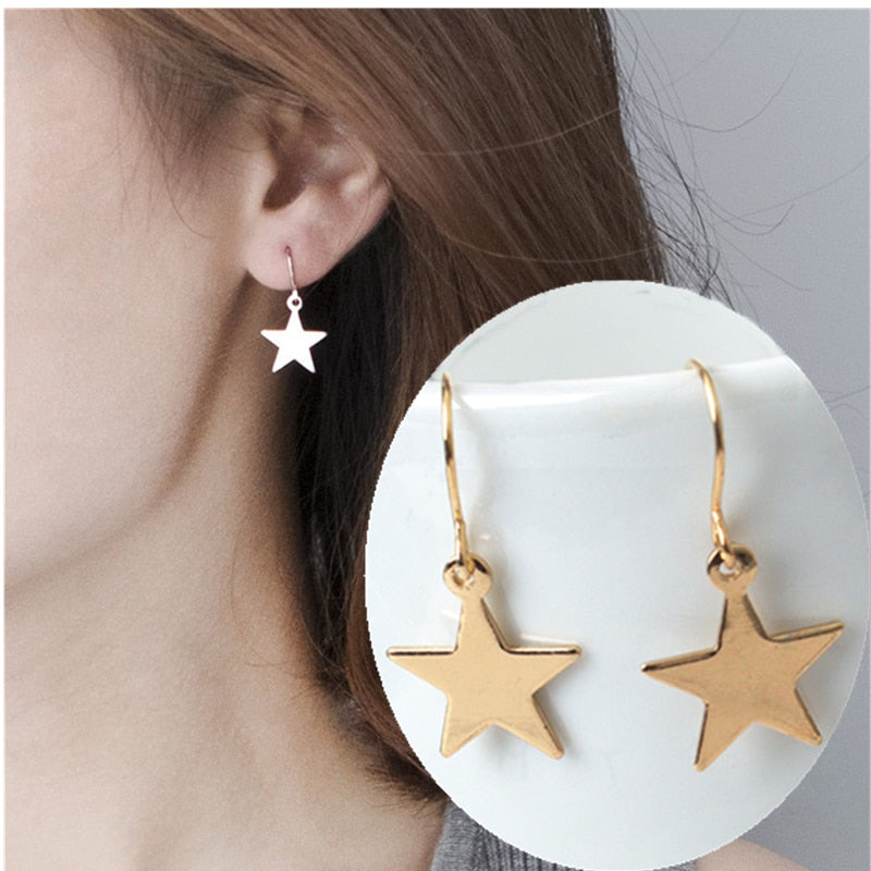 Five-pointed Star Earrings