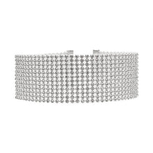 Load image into Gallery viewer, Rhinestone Choker Necklace
