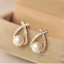 Load image into Gallery viewer, Simulated Pearl Earrings