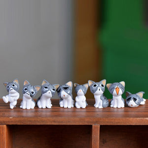 Cheese Cat Miniature Figurines Model