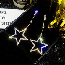 Load image into Gallery viewer, Star Hanging Earrings